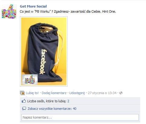 Get More Social na Facebooku z akcją promocyjną