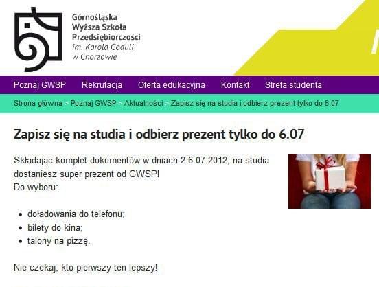 Górnośląska Wyższa Szkoła Przedsiębiorczości w Chorzowie