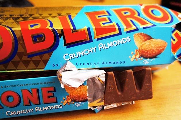 Toblerone z migdałami