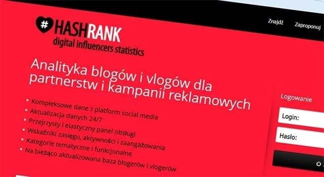 hasrhank mierzy wpływ blogerów