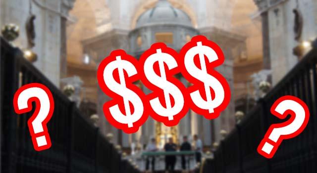 bilet za wejście do kościoła