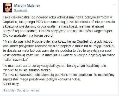 Marcin Majzner - cupsell